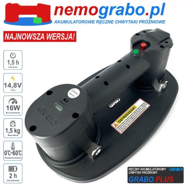 Akumulatorowy chwytak próżniowy Akuchwytak Grabo Plus