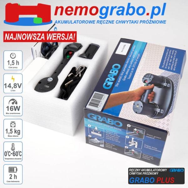 Akumulatorowy chwytak próżniowy Grabo - akuchwytak przyssawka akumulatorowa