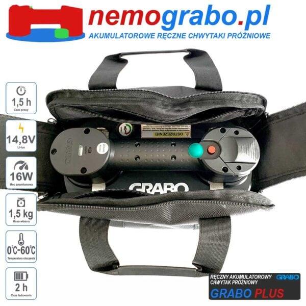 Przyssawka akumulatorowa chwytak próżniowy akuchwytak Grabo