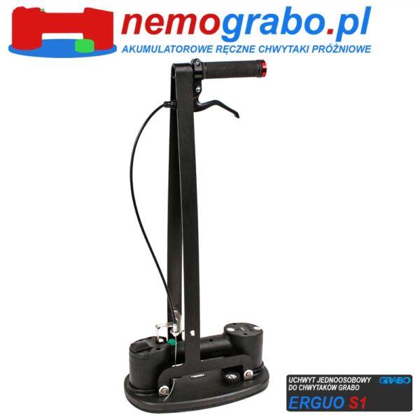 Grabo Erguo S1 - jednoosobowy uchwyt do chwytaków próżniowych do montażu płyt podłogowych